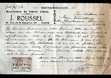 """PARIS (XI°) USINE de POTERIE d'ETAIN """"J. ROUSSEL"""" en 1914"""