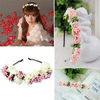 Bridal Headwear Festival Crown Flower Headband Floral Hair Wreath Hairband