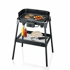 Severin 2792 Barbecue 2500W 25% more Surface with legs BBQ Grill Water Tray New