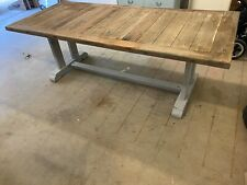 Recycle timber dining table from early settler