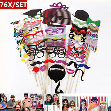 76 Photo Booth Selfie Props Moustache Lips Ties Glasses Mask On a Stick wedding