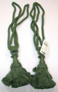"(2) Conso Rope Curtain Tiebacks ~ Pistaschio Green ~ 30"" L / 6"" Tassel **NEW**"