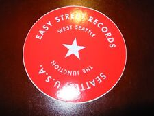 "EASY STREET RECORDS SEATTLE 3"" Red Star Logo STICKER Decal pearl jam"