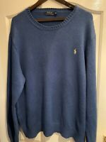 Genuine Men's Ralph Lauren Jumper Blue Size XXL Thick Cotton Excellent Condition