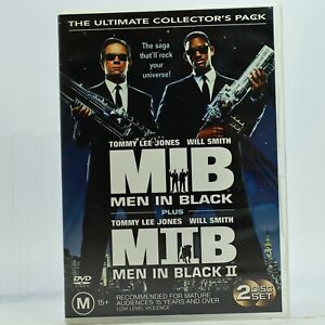 Men In Black 1 2 Ultimate Collection Will Smith Tommy Lee Jones DVD GC Free Post