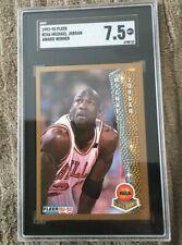 Michael Jordan 1992-93 Fleer #246 BULLS GOAT LAST DANCE SGC 7.5 NEAR MINT+ 🔥🏀