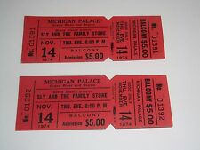 2 SLY AND THE FAMILY STONE 1974 UNUSED TICKETS DETROIT MICHIGAN PALACE funk soul