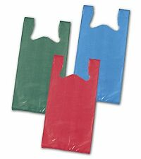 Unprinted T-Shirt Bags, High-Density, Red = 11 1/2 x 7 x 23= Case of 1000