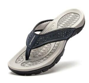 Leather Thong Sandals Men's Sandals Leather Fabric Flip-flops Summer Slippers