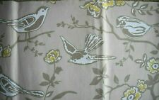 "Ashley Wilde Bramber Fabric Remnants/Offcuts x 2 ~ 54"" x 11.5"" Birds Floral"