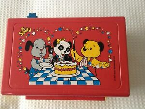 vintage  felt sooty and sweep  school lunch box and contents