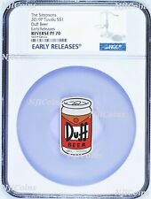 2019 The Simpson Simpsons Duff Beer Rectangular $1 1oz Silver COIN NGC PF 70 ER