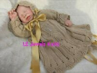Honeydropdesigns * Christening Set * PAPER KNITTING PATTERN * Reborn/Baby