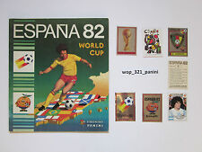 WM 1982, 10 ADESIVI STICKERS PANINI WORLD CUP 82 SPAIN SPAGNA