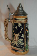 """Collectible Vintage Signed """"Hunting & Beer"""" German Stein No Box"""