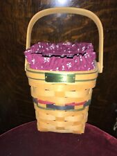Longaberger Bee Basket 1997, Traditional Red Liner, Signed Numbered, Dated.