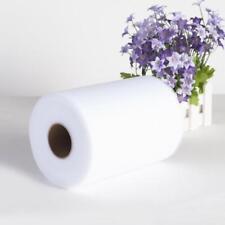 """6"""" 100 Yards Rouleau De Tulle Mariage Emballage Cadeau Art Déco Blanc"""