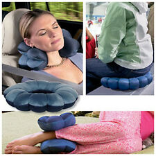 Total Pillow Comfort Travel Twist Neck Massage Back Head Cushion Support Blue