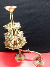 Rare 5+7+9= 21 Jyot Brass Designer Diya Camphor Puja Oil Lamp Aarti Home Decor
