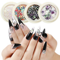 3D Nail Art Laser Holographic Butterfly Glitter Nail Art Stickers Colorful Decor