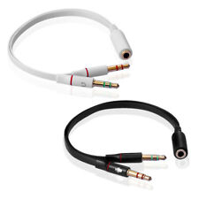 3,5mm Audio Splitter Kabel Y Klinken Adapter Kabel Kopfhörer Mikrofon Headset
