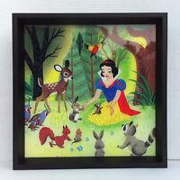 Disney Parks WonderGround Art of Golden Books Snow White 13x13 inch Framed Art