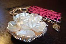 pendant necklace, alloy,27 inch,Fashion Betsey Johnson shining crystal Flower