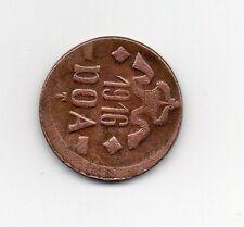D.O.ATANGANYIKA EMERGENCY TABORA 1916 20 HELLER COPPER COIN TYPE B-B DOA109