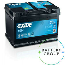 Exide AGM Sealed Gel Car Battery 12V 70Ah Type 096 760CCA OE Quality 4 Yrs Wty
