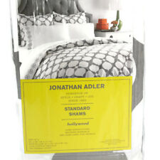 JONATHAN ADLER NEW Hollywood Sleek Gray White Standard Shams Pillow Sham set