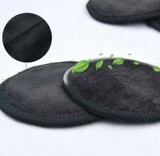 Reusable Washable Make Up Remover Cleansing Bamboo Cotton Pads- Black x5, NEW