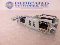 Cisco VWIC3-2MFT-T1/E1 2 Port T1/E1 Multiflex Trunk Voice/WAN Interface Mod KMJ