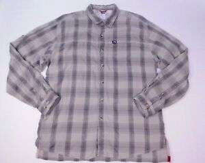 The North Face Mens Modal Polyester Button Up Long Sleeve Shirt Hiking Large