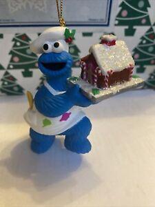 Cookie Monster Sesame Street Jim Henson Grolier Christmas Annual Ornament NIB