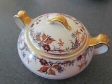 3 Pc Haviland & Co Limoges France Autumn Sugar Bowl With Lid and Creamer Set