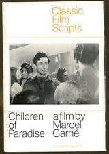 Children of Paradise-Classic Film Scripts by Marcel Carne-1st Printing-1968