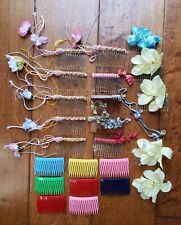 Mixed Lot Hair Accessories Vintage Comb Clip Flowers Stylist