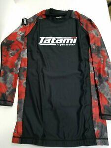 New Tatami Renegade Red Camo MMA BJJ Jiu Jitsu Long Sleeve LS Rashguard