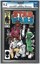 STAR WARS #107 CGC 9.2 (9/86) Marvel Comics white pages