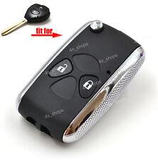 2 Buttons Flip Folding Remote Key Case Refit Shell For Toyota Prado Tarago Camry