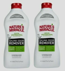 2 Nature's Miracle SKUNK ODOR REMOVER Neutralize Smell Pets Clothing Carpet 32oz