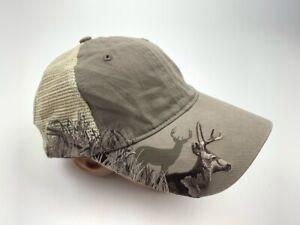 Dri Duck Wildlife Hat Cap Strapback Beige Adjustable One Size Adult Deer Hunter
