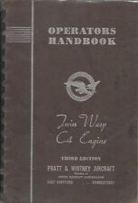 PRATT & WHITNEY TWIN WASP C4 WW2 ENGINE ORIGINAL 1942 OPERATORS HANDBOOK