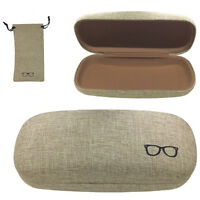 Hard Shell Metal Eyeglasses Case Cases Big Large For Glasses Sunglasses Lunettes