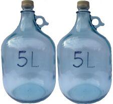 2 x 5L GLASBALLON Weinballon GÄRBALLON GLASFLASCHE Flasche