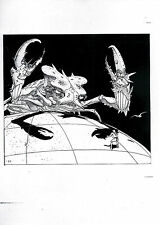 Moebius - Page de production originale