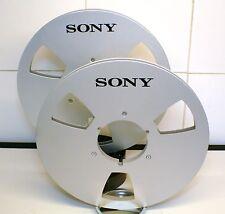 """2 X SONY LOGO METAL NAB HUB REEL TO REEL 10.5"""" X 1/4"""""""