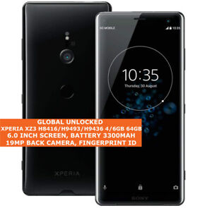 SONY XPERIA XZ3 H8416/H9493/H9436 4/6gb 64gb Single/Dual Sim 19MP 4G smartphone