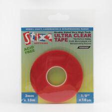 Stix 2 Ultra Clear Tape - 3mm x 15m - S57084 ~ Card, Memorybook, Scrapbooking