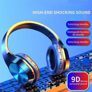Foldable Wireless  Mic Headphones Stereo Earphones Super Bass Headsets